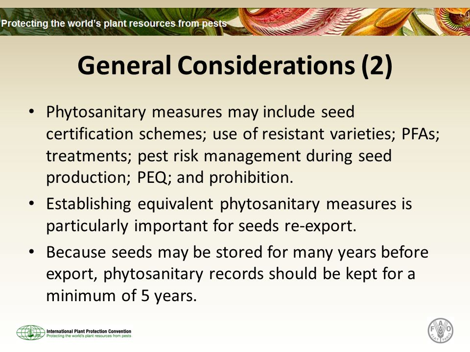 General Considerations (2)