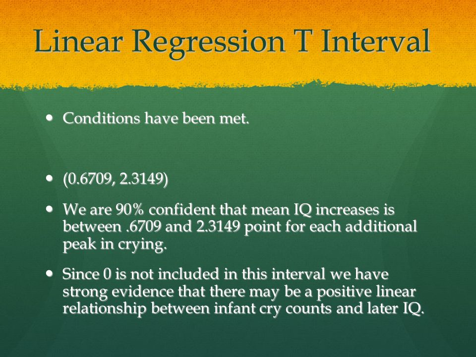 Linear Regression T Interval