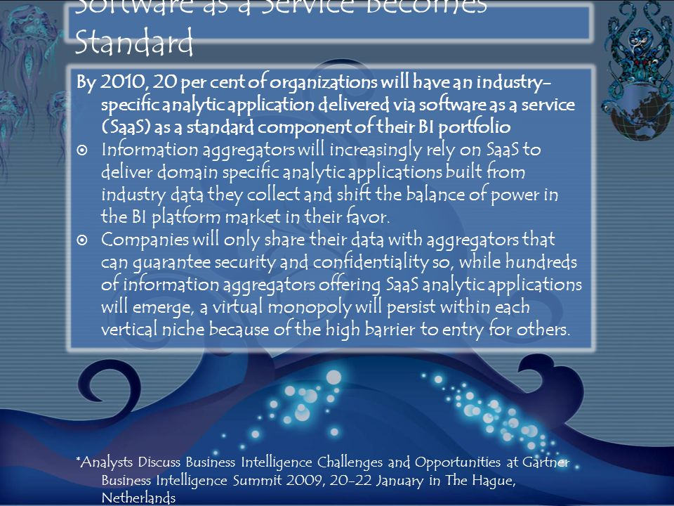 Software as a Service Becomes Standard