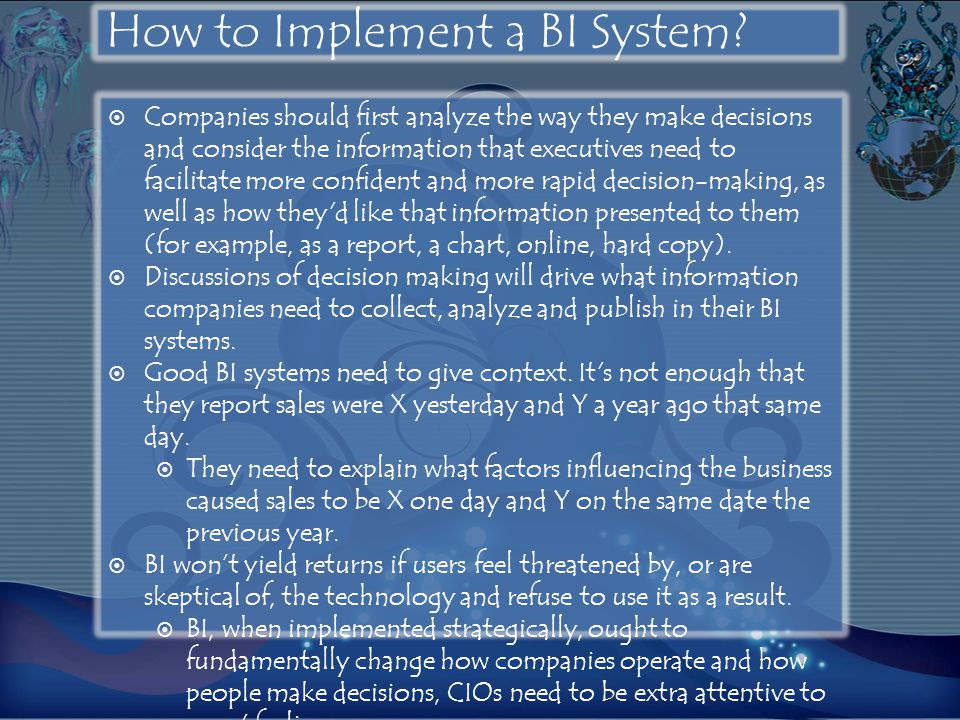 How to Implement a BI System