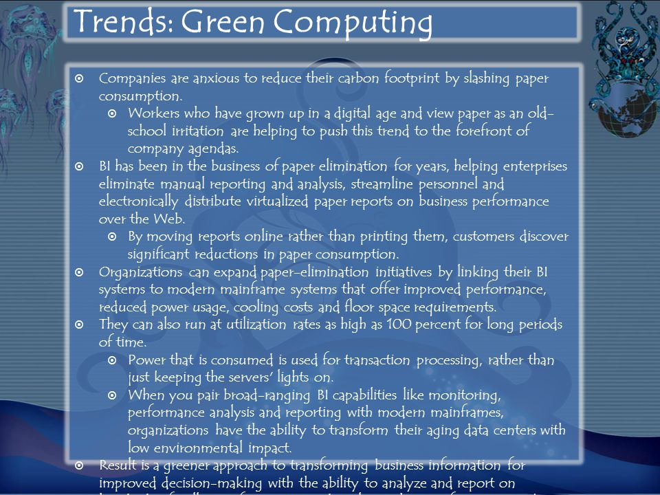Trends: Green Computing