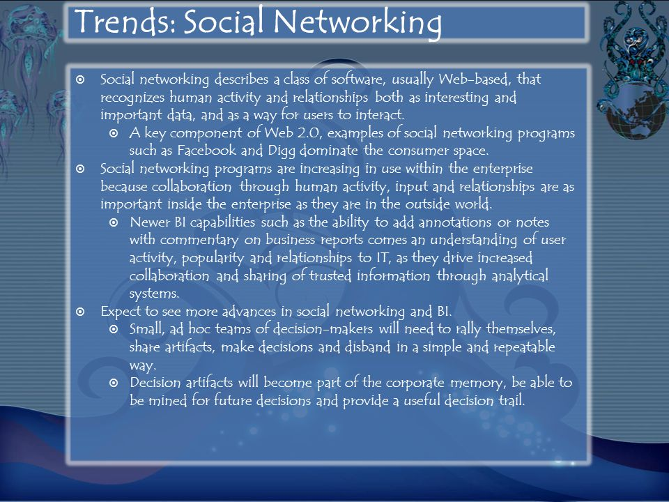 Trends: Social Networking