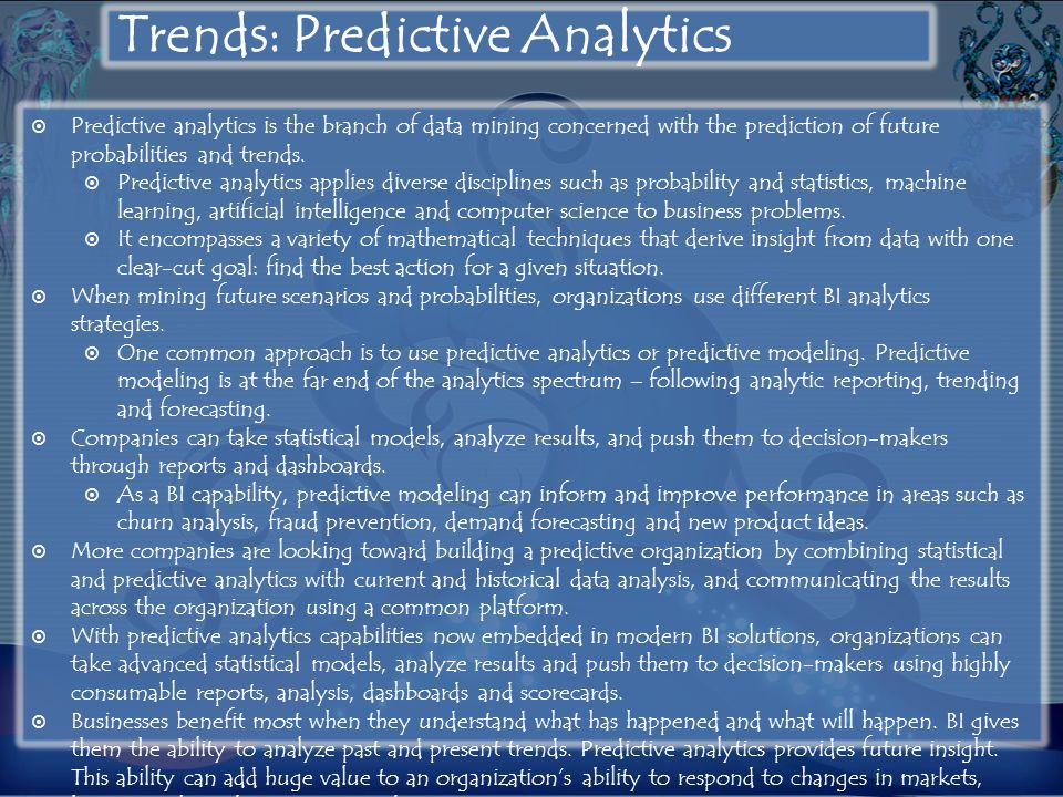 Trends: Predictive Analytics
