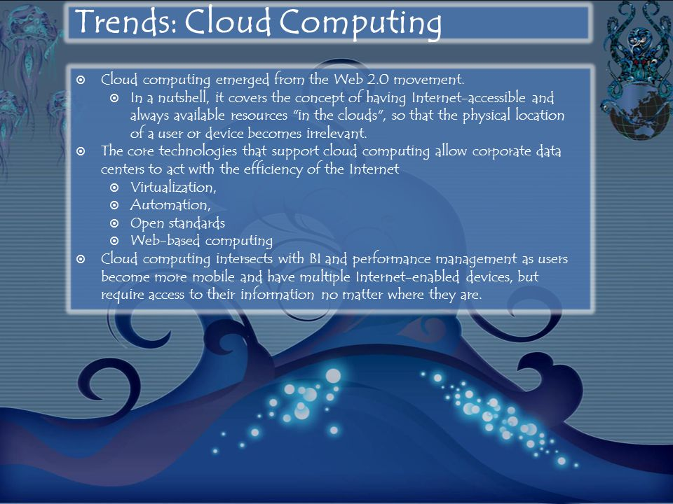 Trends: Cloud Computing