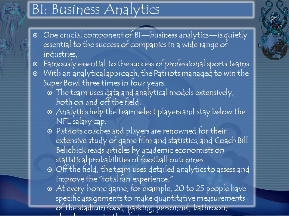 BI: Business Analytics