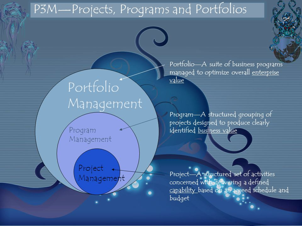 P3M—Projects, Programs and Portfolios