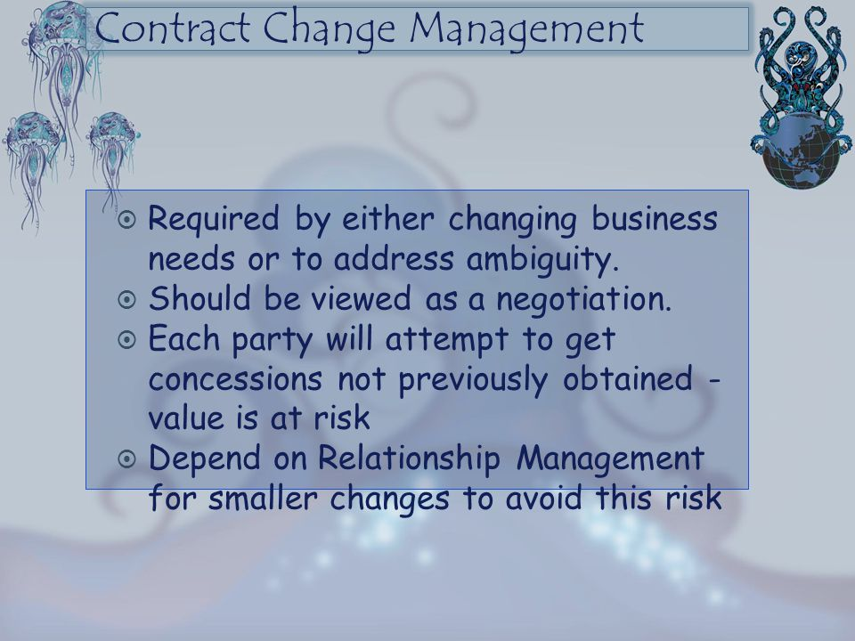 Contract Change Management