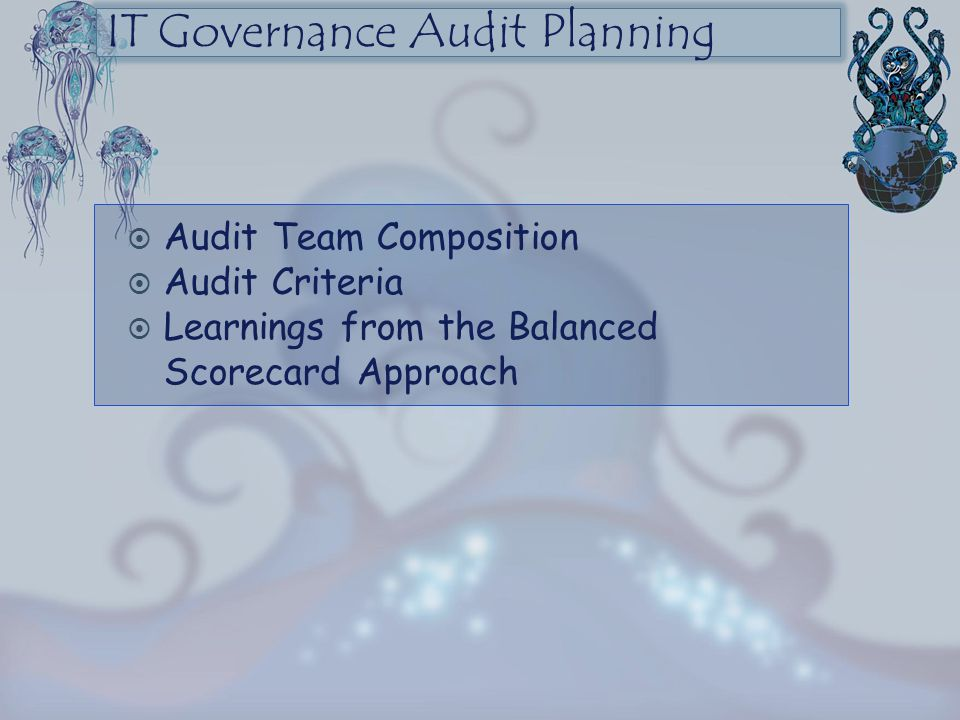 IT Governance Audit Planning