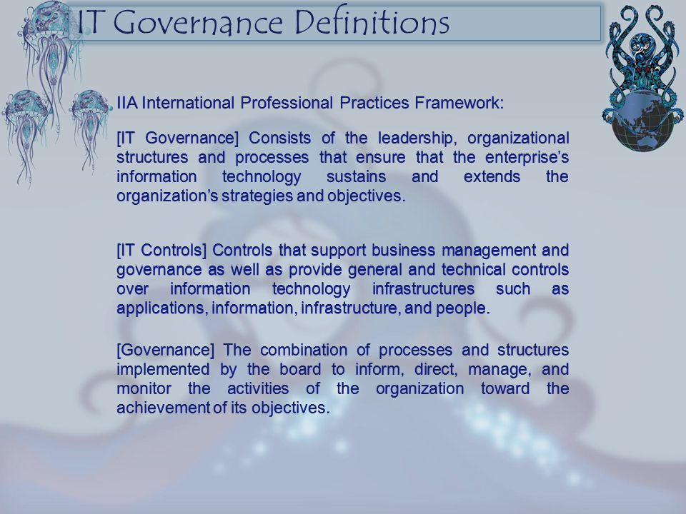 IT Governance Definitions