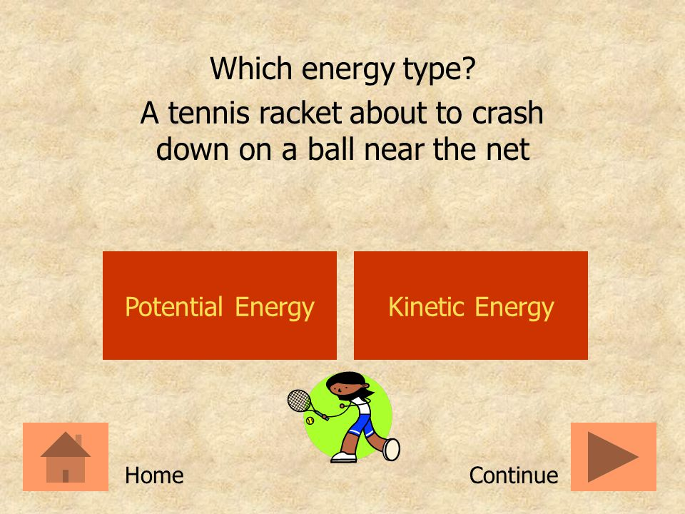 A tennis racket about to crash down on a ball near the net