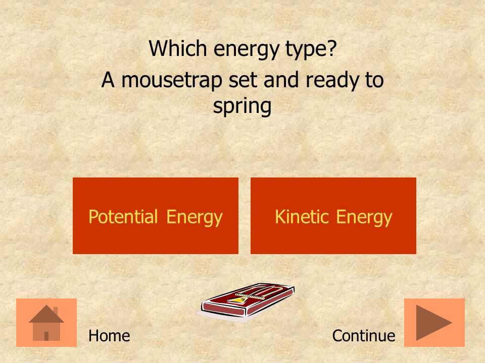 A mousetrap set and ready to spring
