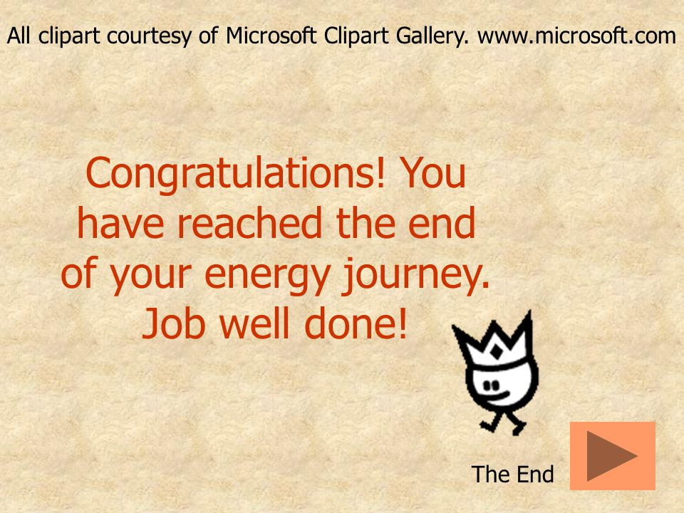 All clipart courtesy of Microsoft Clipart Gallery.