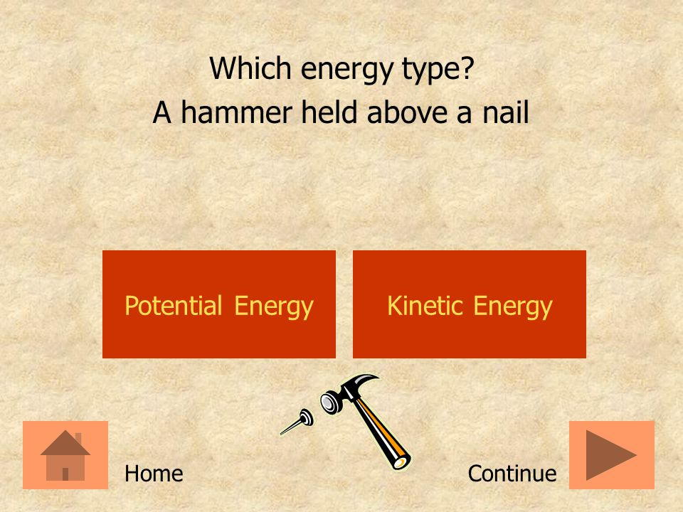 A hammer held above a nail
