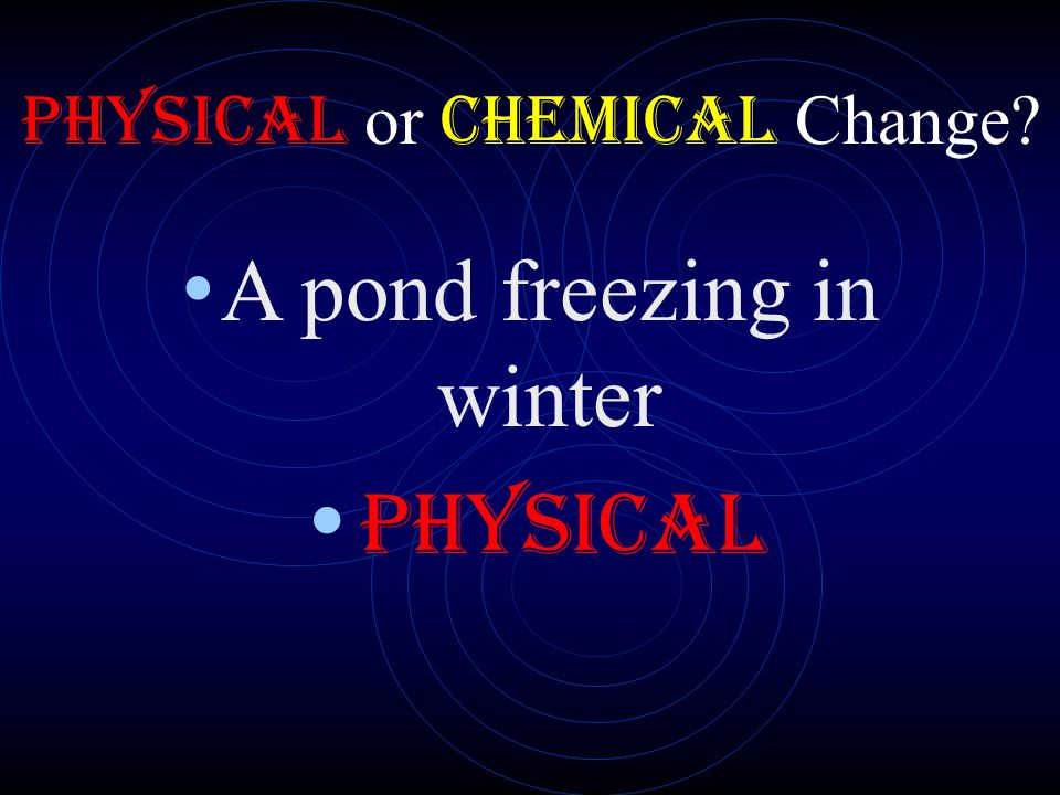 A pond freezing in winter PHYSICAL