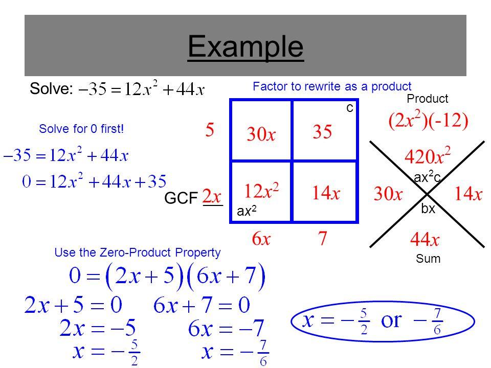 Use the Zero-Product Property