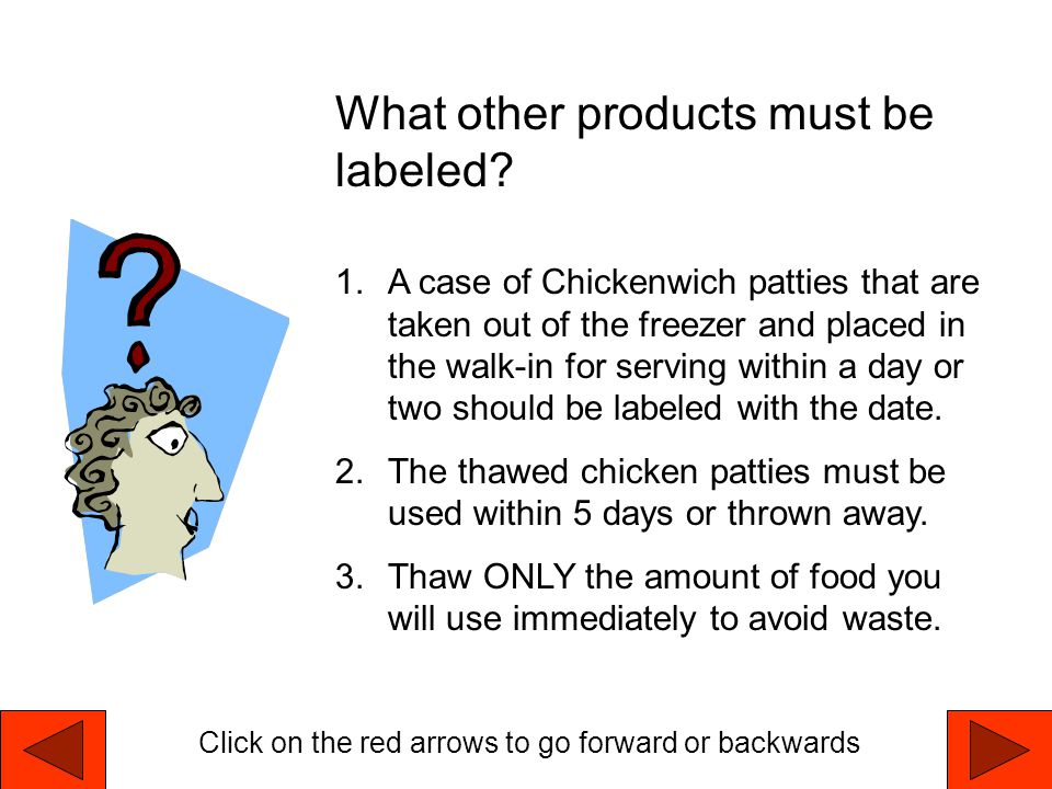 What other products must be labeled