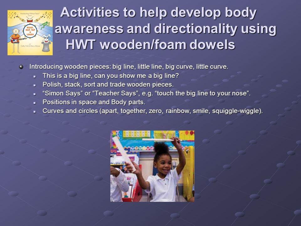 Activities to help develop body