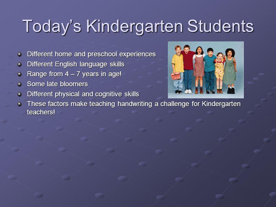 Today's Kindergarten Students