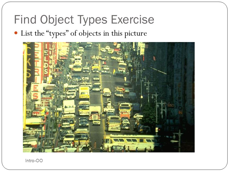 Find Object Types Exercise
