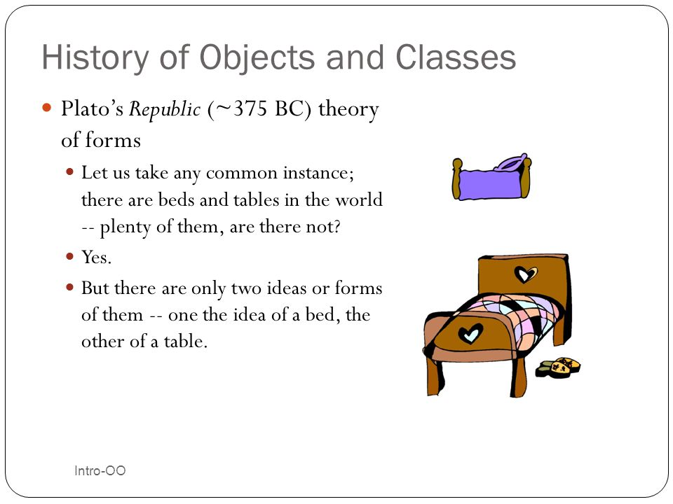 History of Objects and Classes