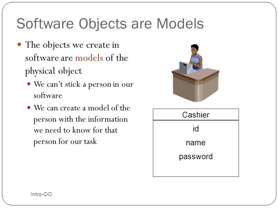 Software Objects are Models