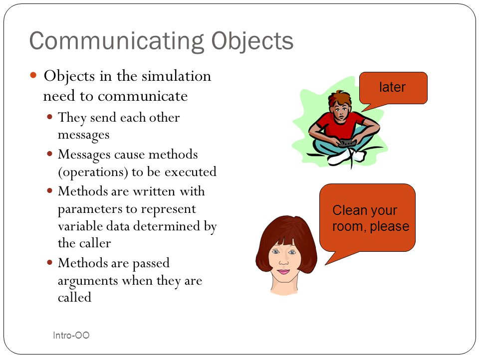 Communicating Objects