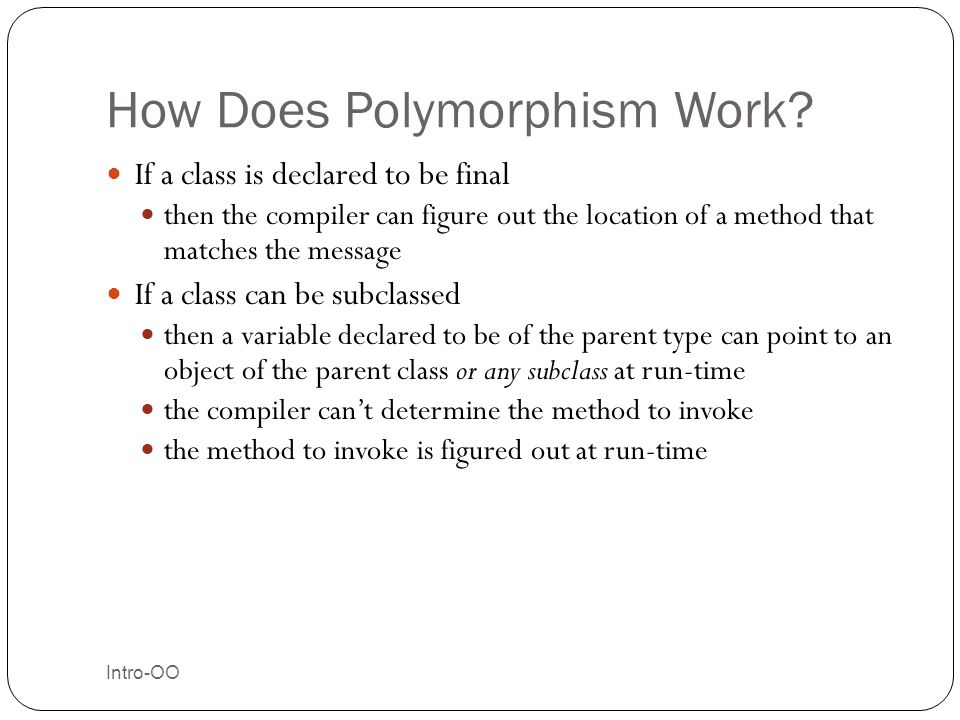 How Does Polymorphism Work