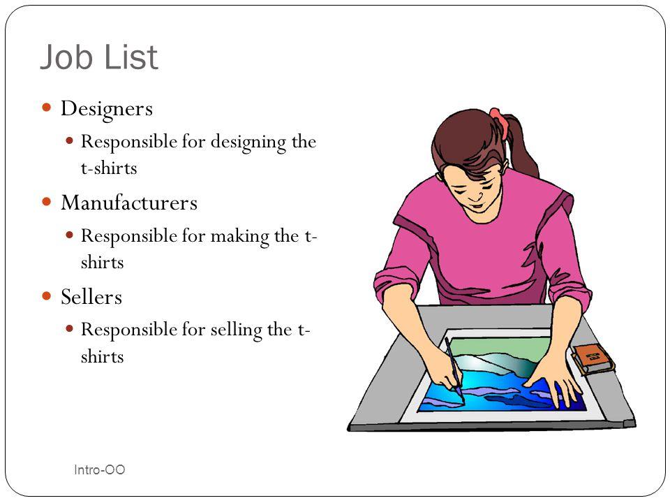Job List Designers Manufacturers Sellers