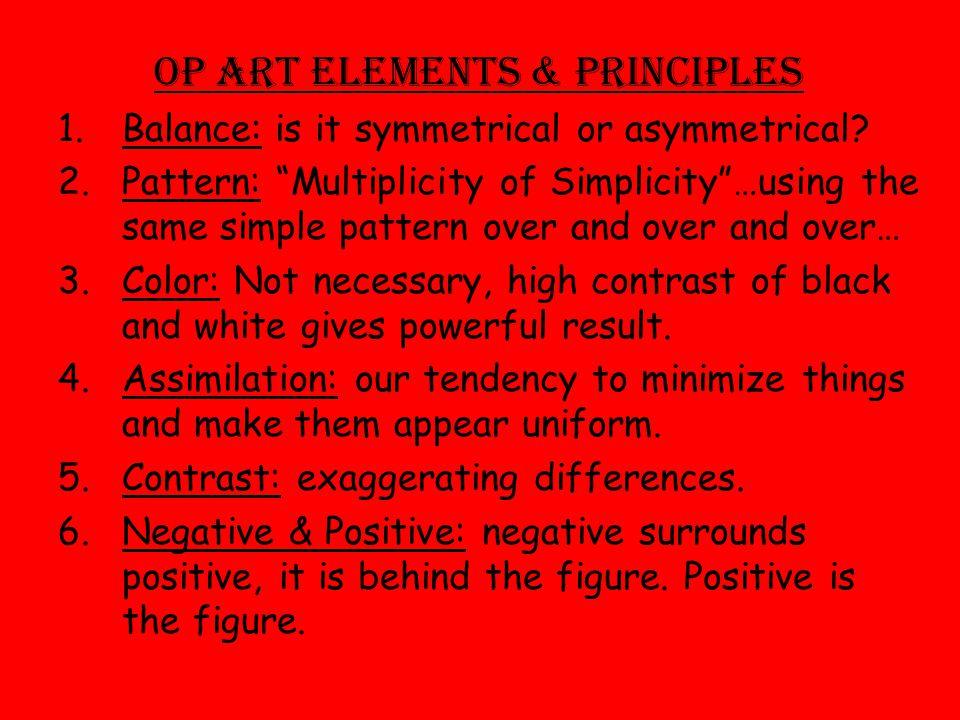Op Art Elements & Principles