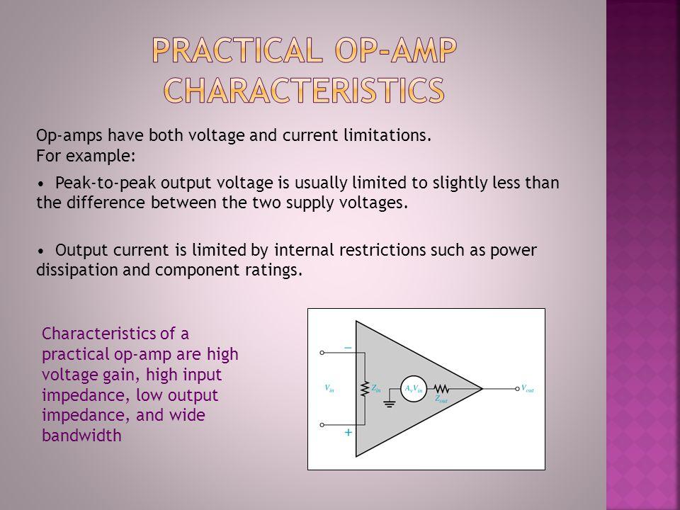 Practical op-amp characteristics