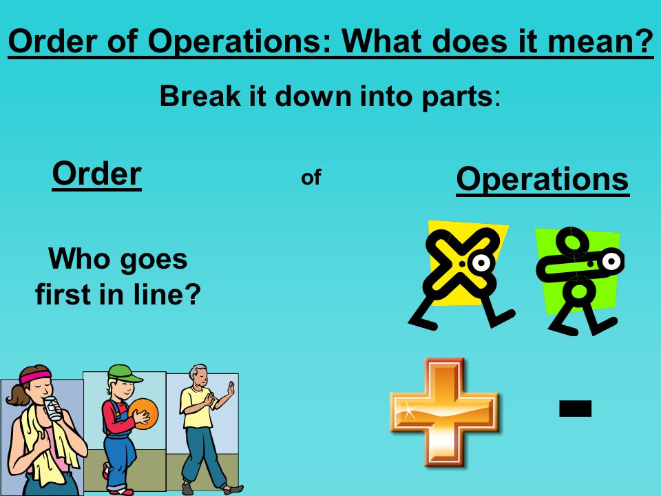 Order of Operations: What does it mean