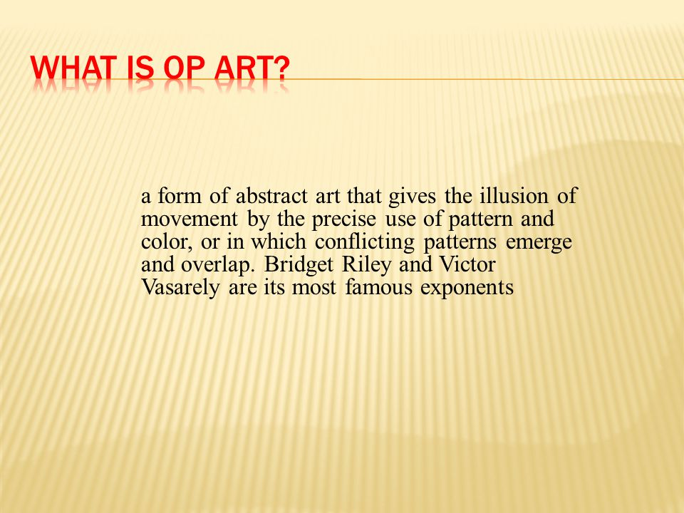 What is Op Art