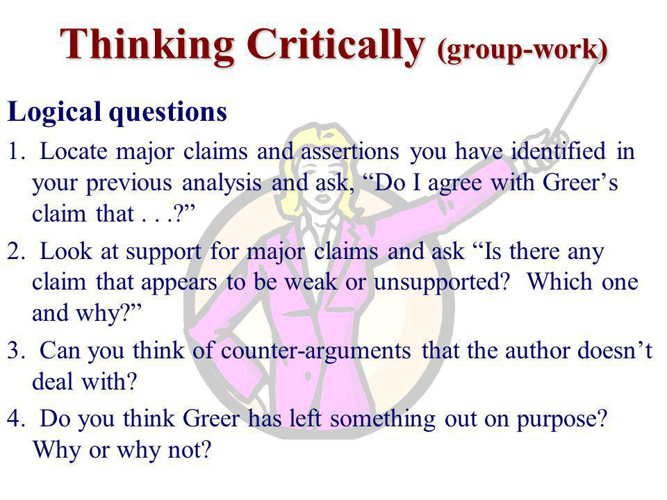 Thinking Critically (group-work)