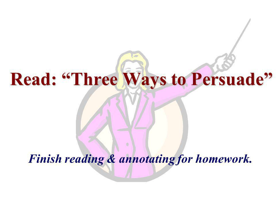 Read: Three Ways to Persuade