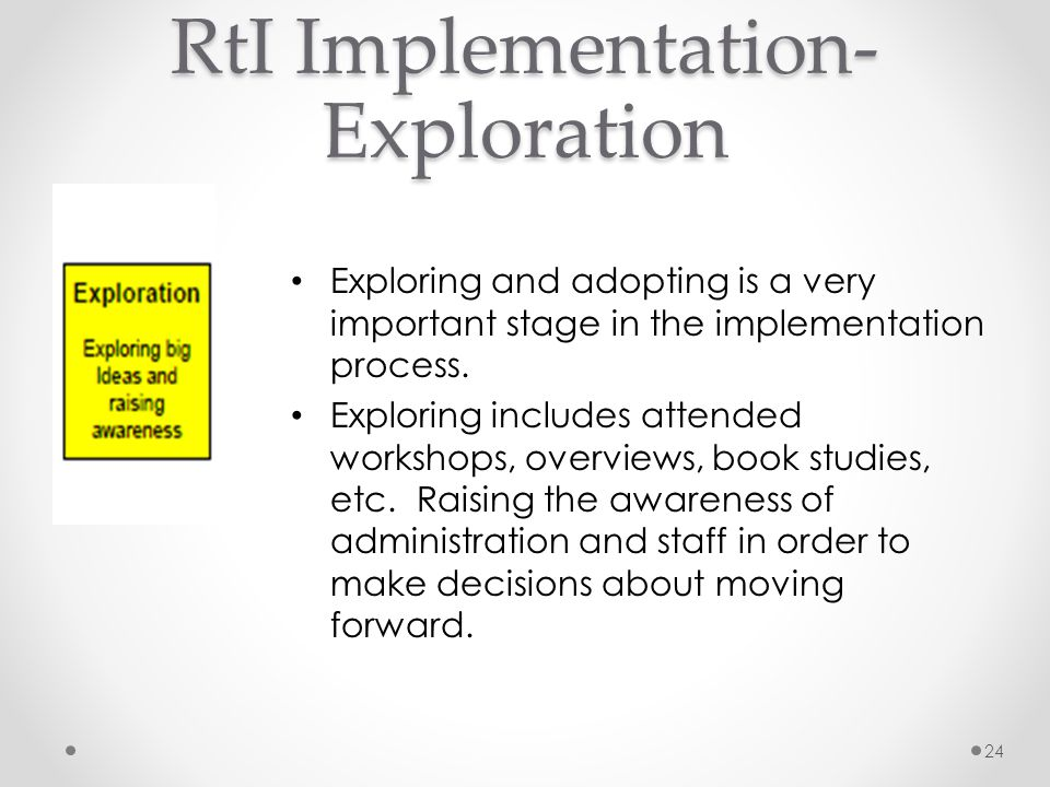 RtI Implementation-Exploration