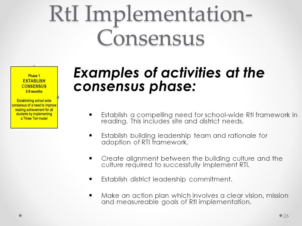 RtI Implementation-Consensus