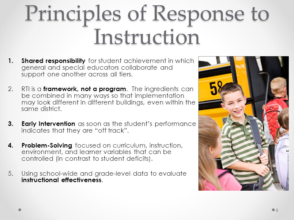 Principles of Response to Instruction