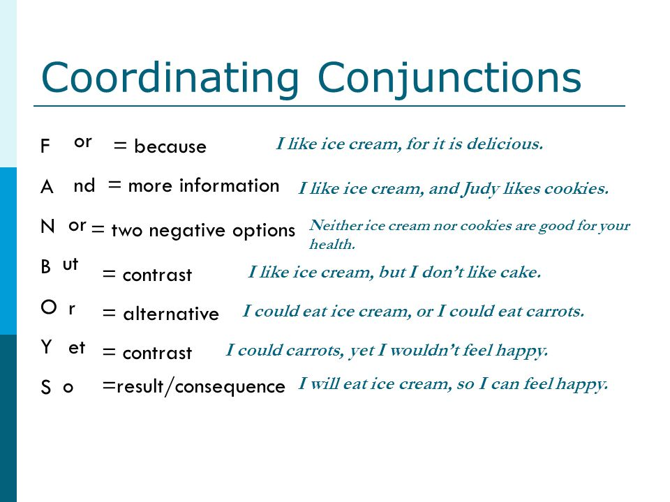 Coordinating Conjunctions