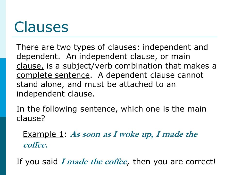 Clauses