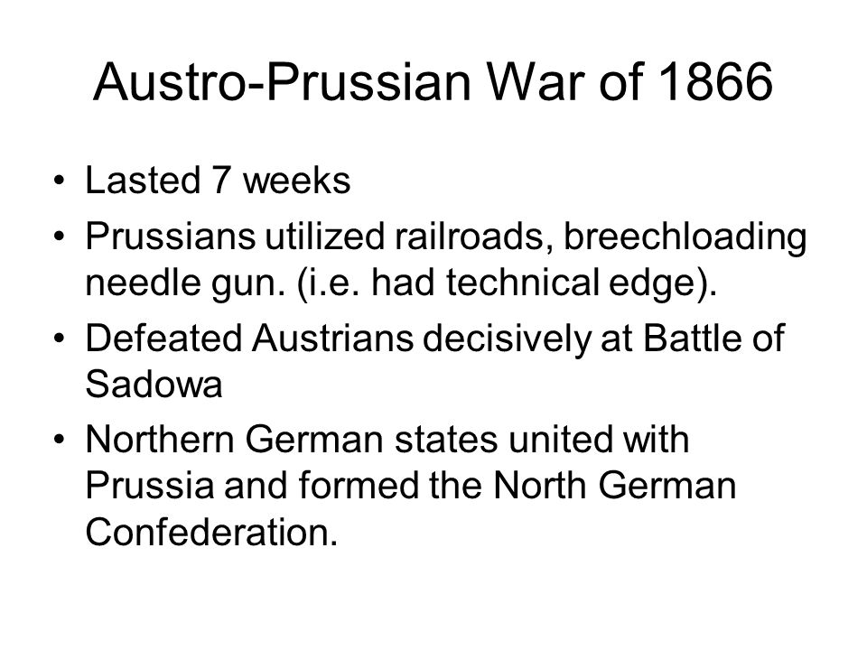 Austro-Prussian War of 1866
