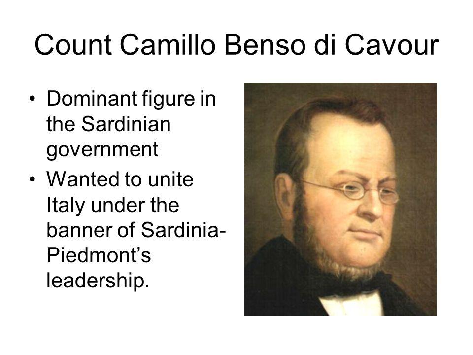 Count Camillo Benso di Cavour