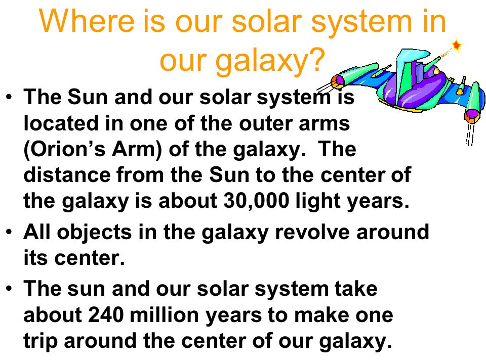 Where is our solar system in our galaxy