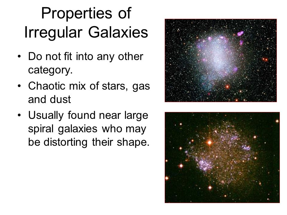 Properties of Irregular Galaxies