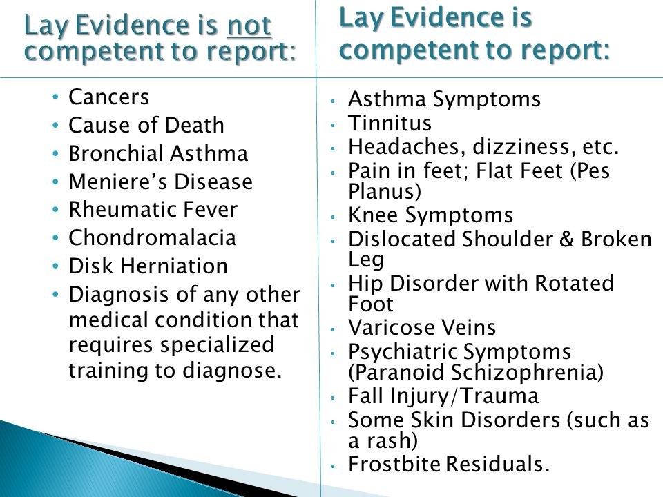 Lay Evidence is not competent to report: