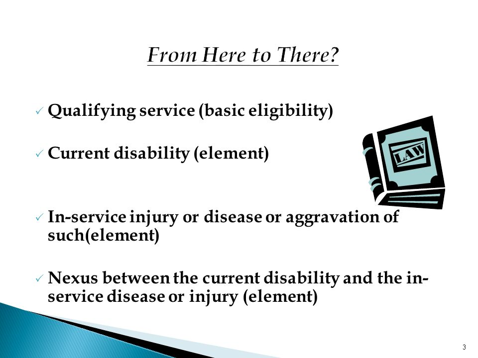 From Here to There Qualifying service (basic eligibility)