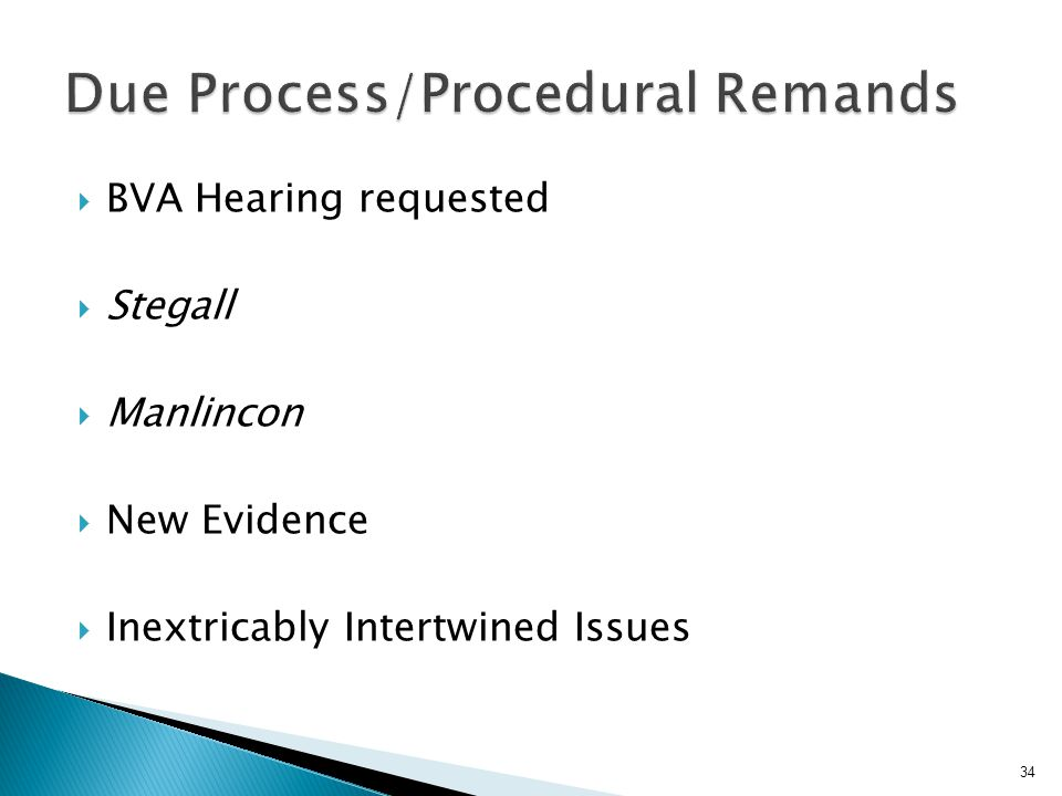 Due Process/Procedural Remands