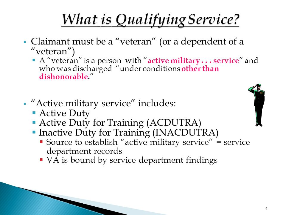What is Qualifying Service