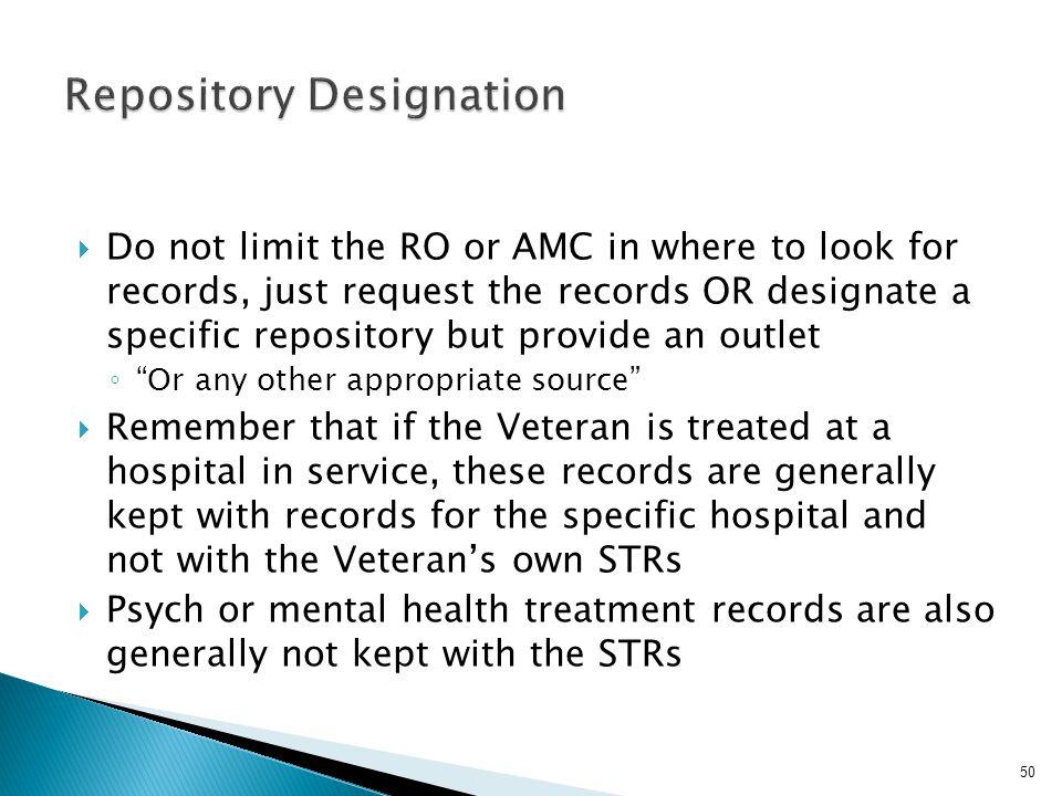 Repository Designation