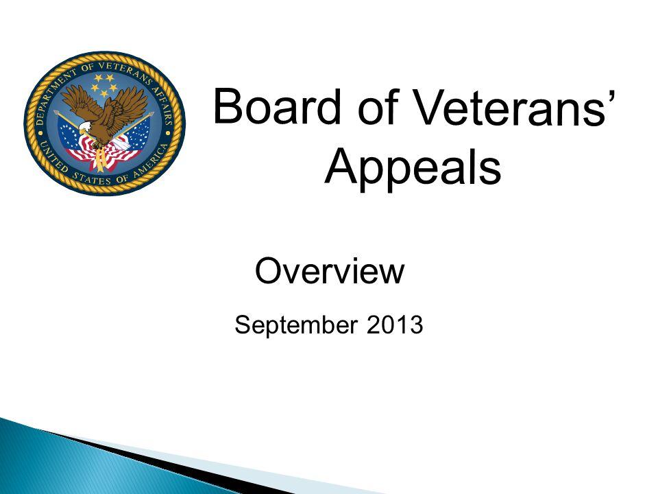 Board of Veterans' Appeals
