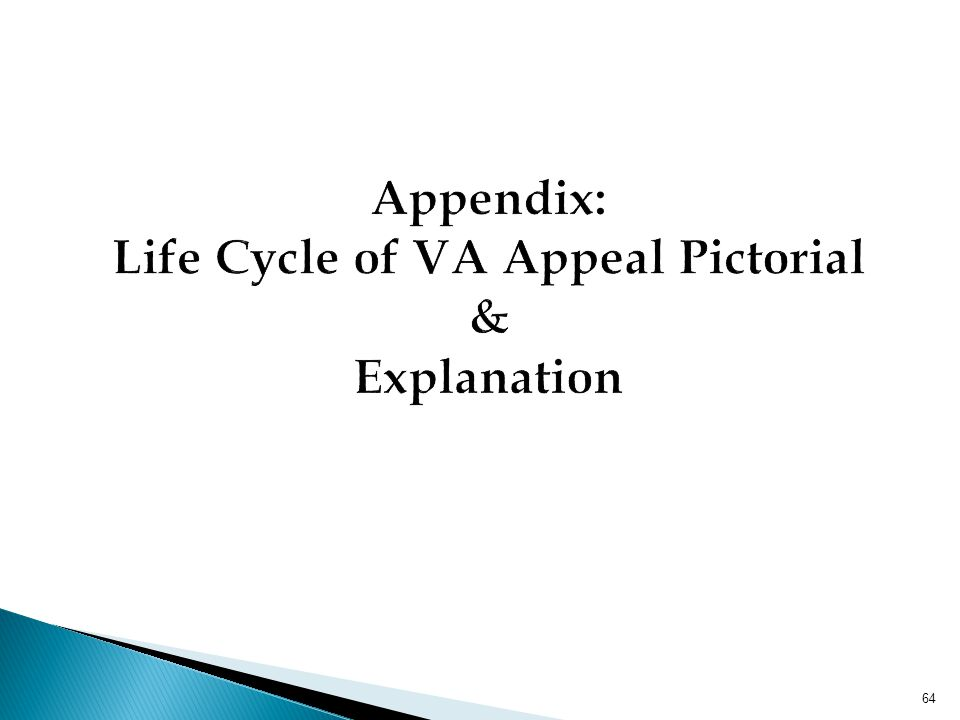 Appendix: Life Cycle of VA Appeal Pictorial & Explanation